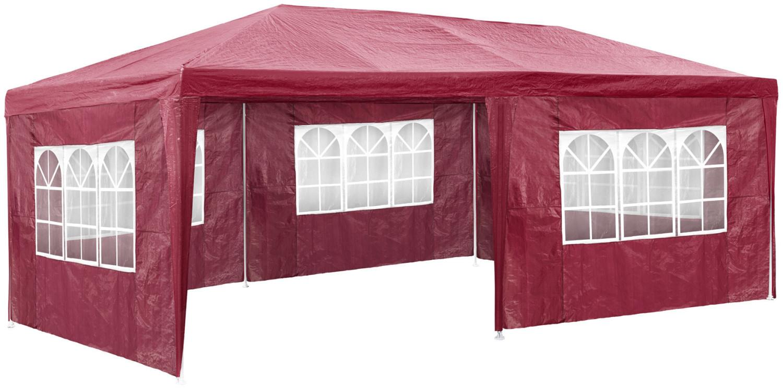 TecTake Pavillon 3 x 6 m rot