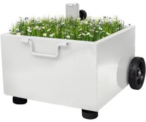 vidaXL Sonnenschirmständer bepflanzbar 12,5kg weiß