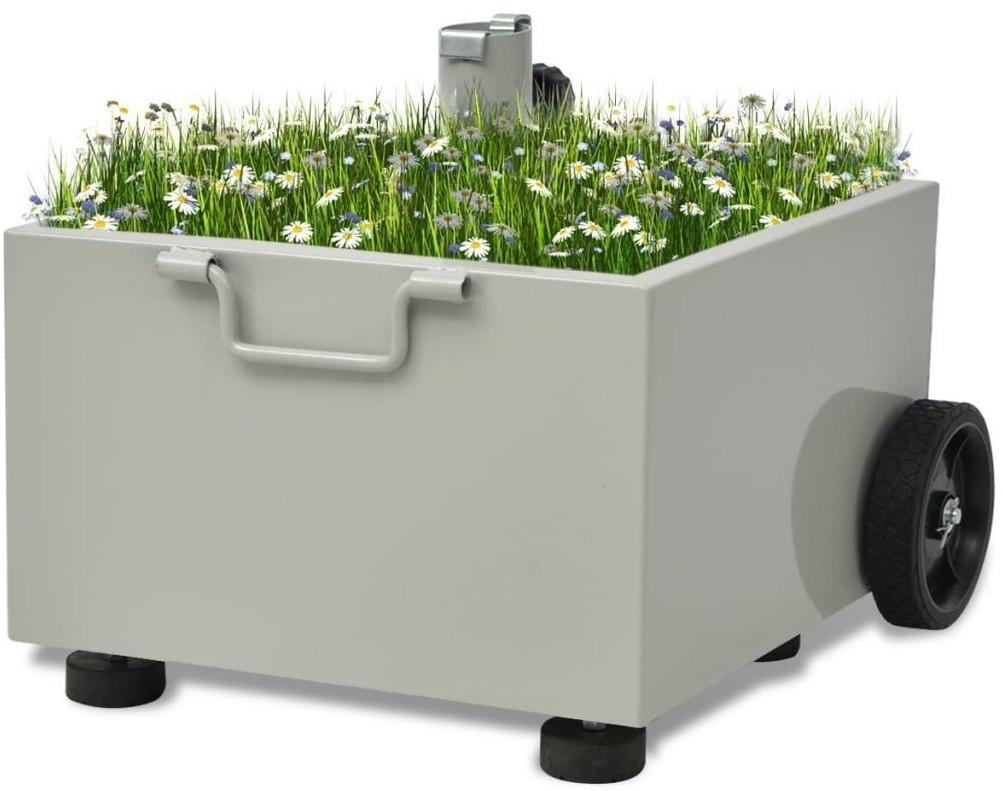 vidaXL Sonnenschirmständer bepflanzbar 12,5kg grau
