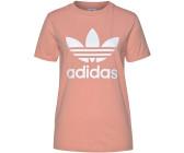 adidas Adicolor Big Trefoil T Shirt WeißRot adidas Damen