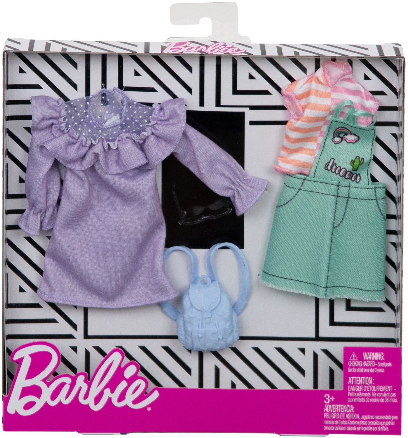 Image of Barbie Fashion Pack Pastel & Patchwork (FXJ64)