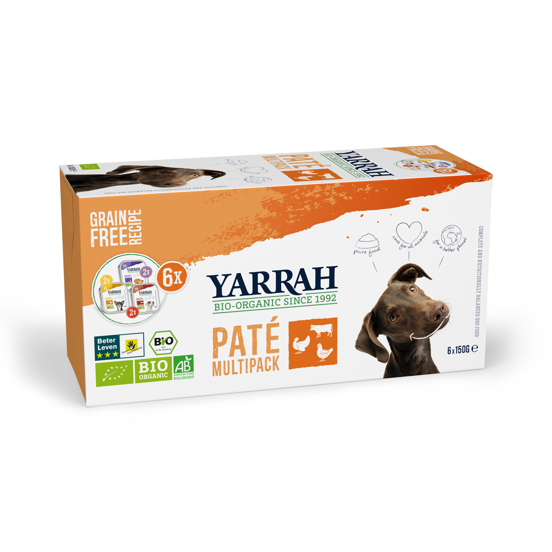 Yarrah Bio-Hundefutter Multi Pack 6x150g