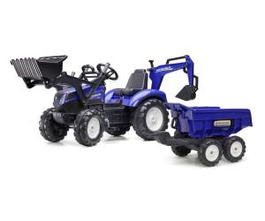 excavatrice Bleu 3090W Falk tractopelle New Holland t8 Dumper Maxi