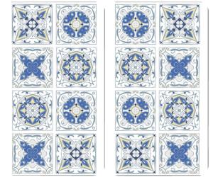 Wenko Abdeckplatten 2er Set Fliesen weiß blau