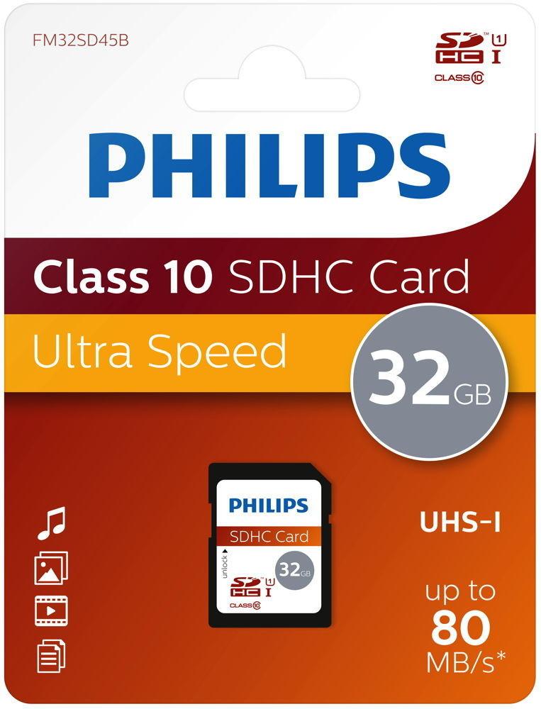Philips SDHC 32GB (FM32SD45B)