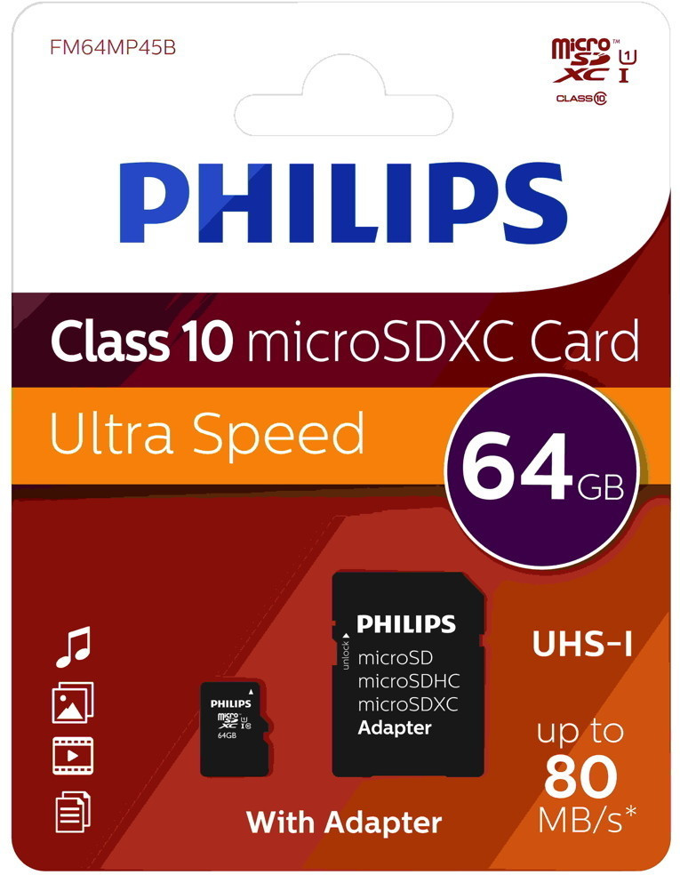 Philips microSDXC 64GB (FM64MP45B)