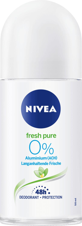Nivea Fresh Pure 0% Langanhaltende Frische Roll-On (50 ml)