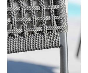 Stern Greta 3 Sitzersofa Aluminiumrope Inkl Kissen Anthrazit