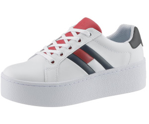 Tommy Hilfiger – Sneaker aus Leder mit Plateausohle – Weiß