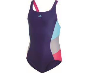 Adidas Colorblock Swimsuit (DH2427) dark bluebright cyan ab