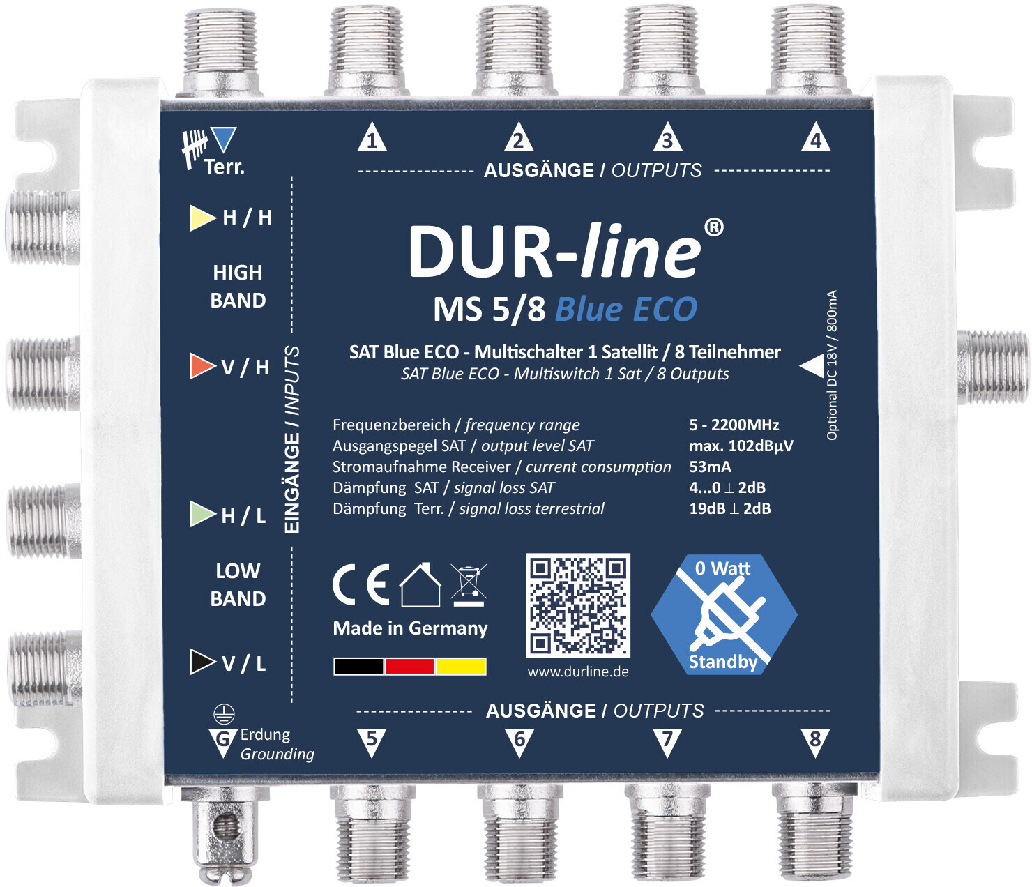 #DUR-Line MS 5/8 blue eco#