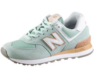novísimo selección amplia selección marcas reconocidas New Balance 574 Essentials Women white agave with faded copper ab ...