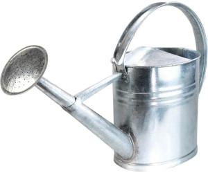 Gießkanne weiß 0,8 l Zink verzinkt Zinkgießkanne Metall
