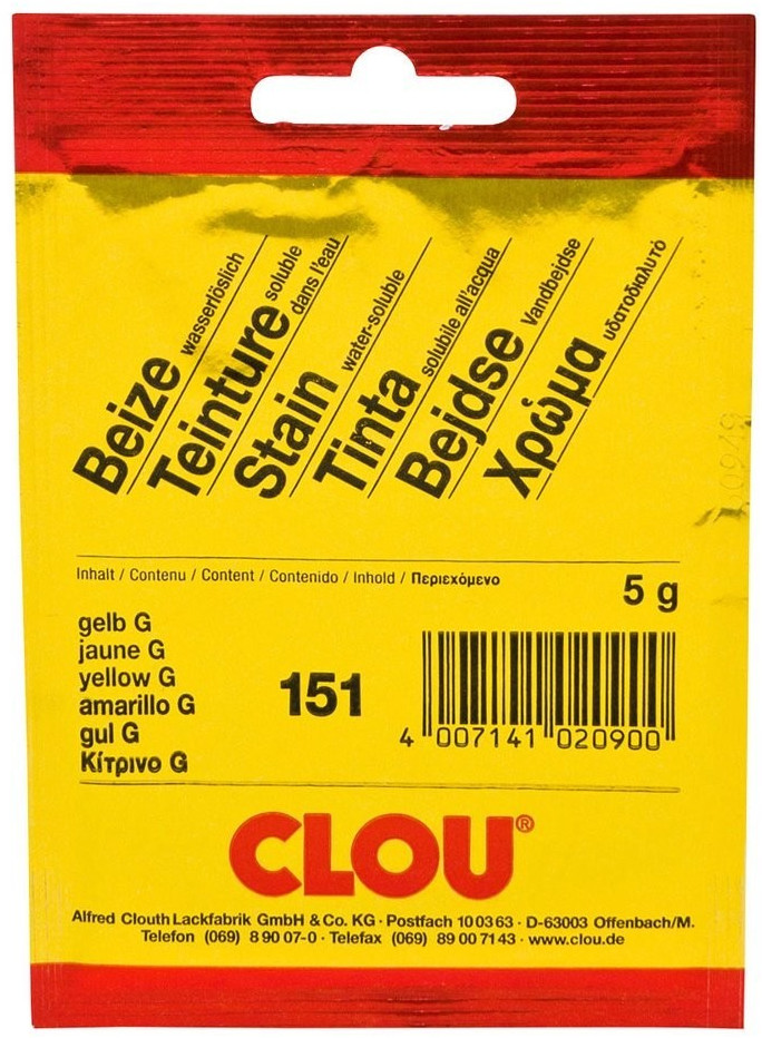 CLOU Beize in Pulver 5 g 151 gelb G