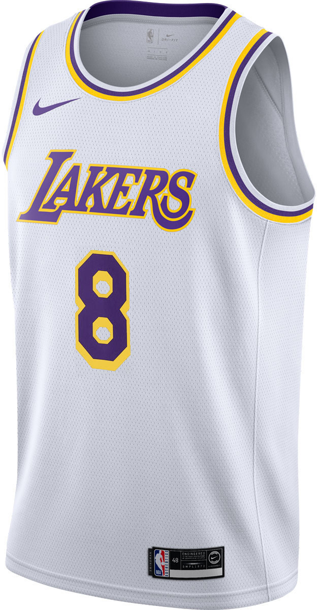ef36903ca Nike Kobe Bryant Los Angeles Lakers Jersey Association Edition Swingman  white
