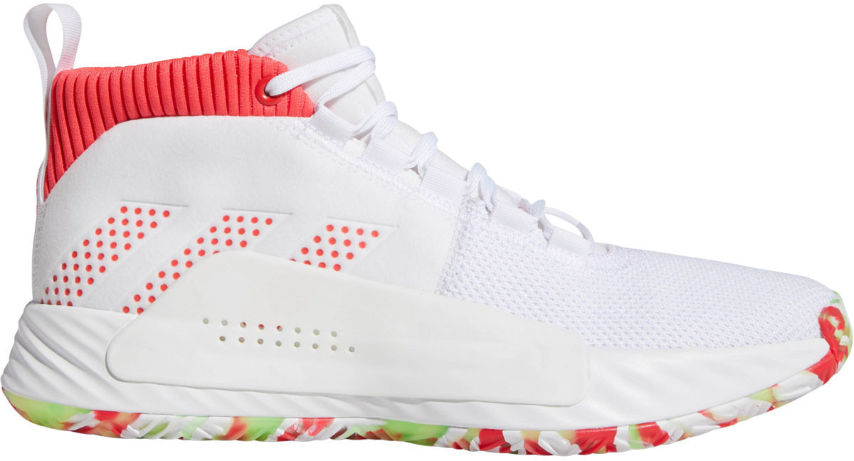 Adidas Dame 5 ftwr white/shock red/crystal white