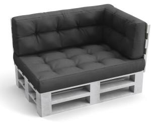 VICCO Kissen-Set Sitzkissen Rückenkissen Seitenkissen 15cm Flocke anthrazit