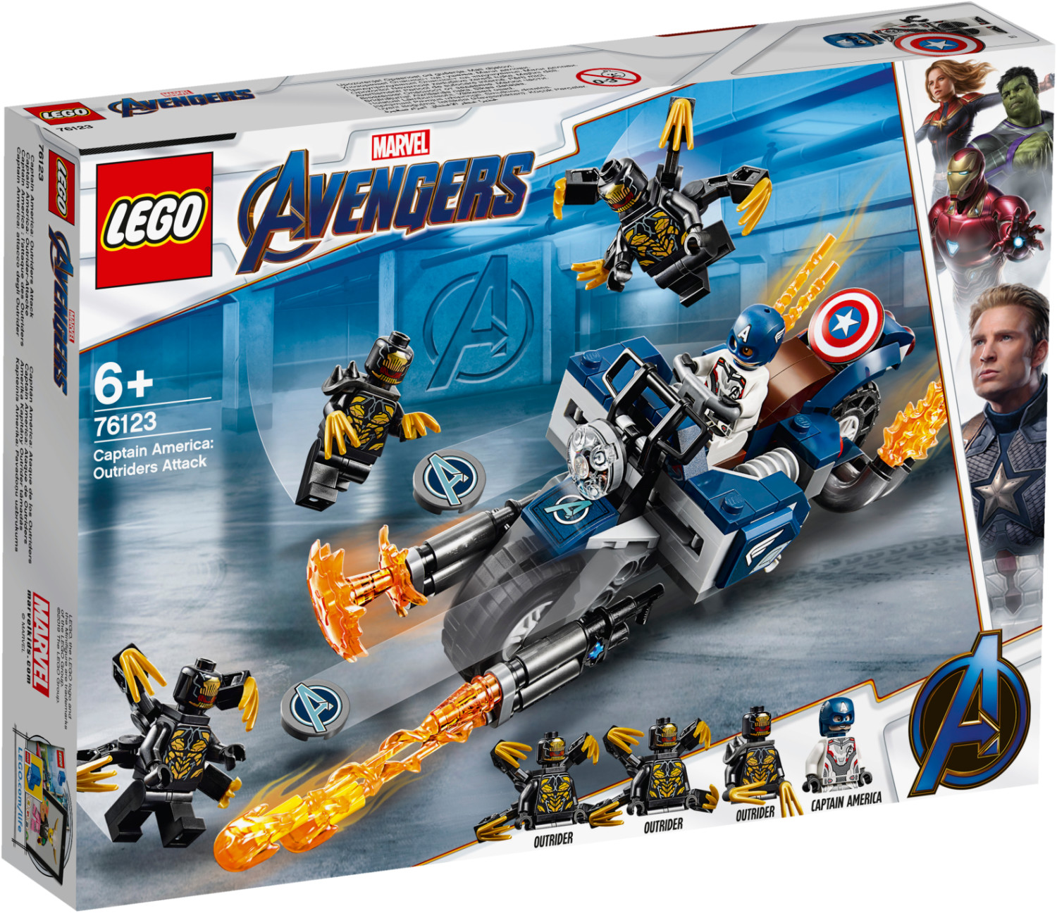 LEGO Marvel Super Heroes - Captain America et l'attaque des Outriders (76123)