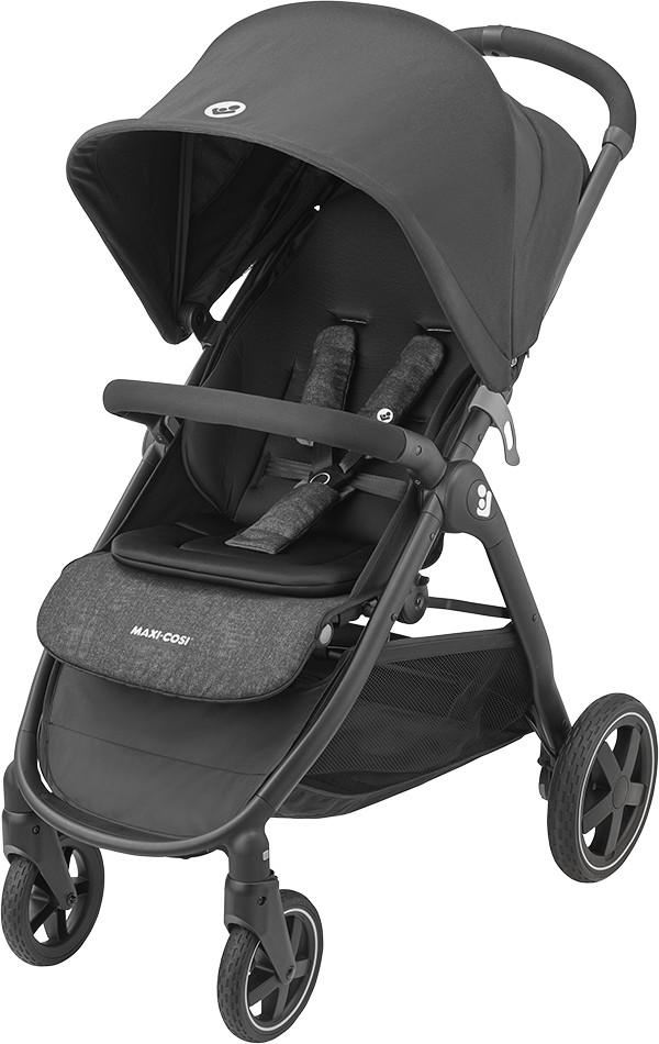 Vielseitiger Buggy Schwarz Unisex von Geburt bis 22 kg Maxi-Cosi Kinderwagen Gia essential Black