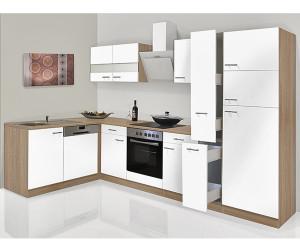 L-Form Küche Küchenzeile erweiterbar Eiche Sonoma Fronten Neu/&Schnell Schränke