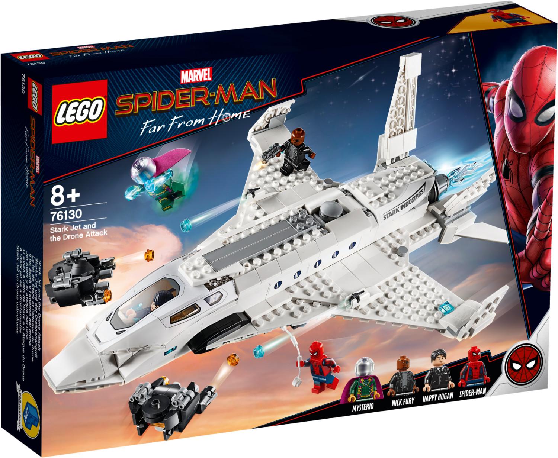 LEGO Marvel Super Heroes - L'attaque de Spider Man avec le jet de Stark (76130)