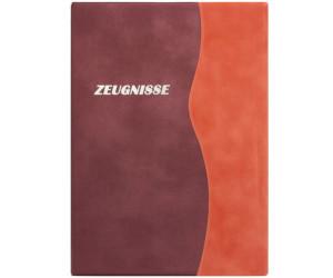 terrakotta Zeugnismappe mit Gravur Farbe Zeugnisringbuch A4 mit 10 Hüllen