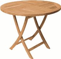 Zebra Poker Tisch Ø 90 cm (Teak)