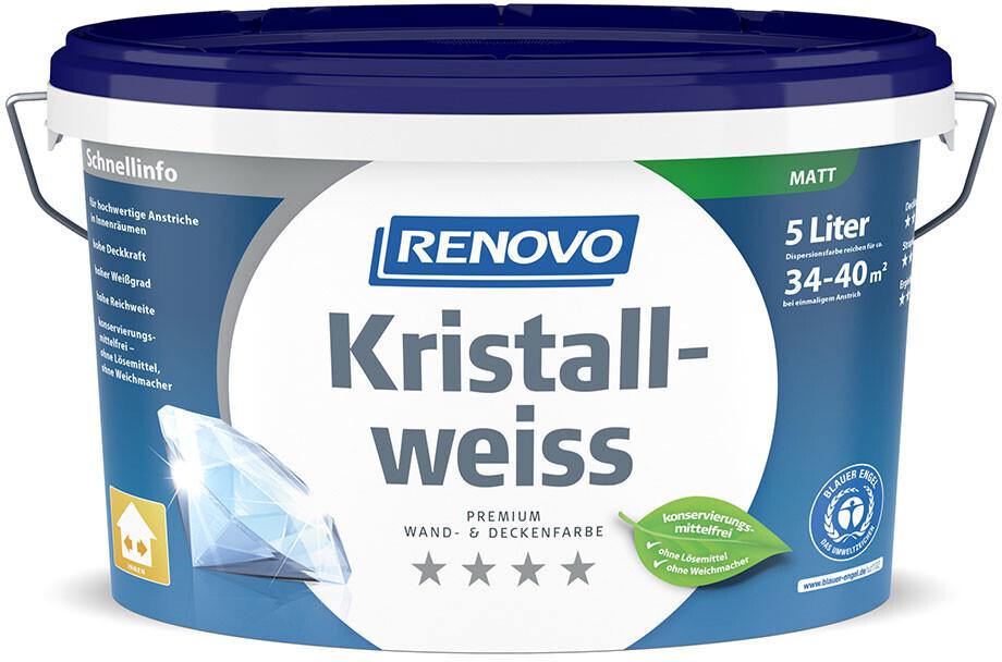 Renovo Wandfarbe Kristallweiss matt 5 l