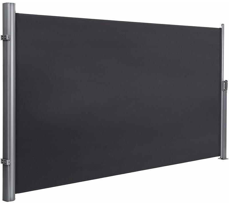 Songmics Seitenmarkise 350 x 200 cm grau