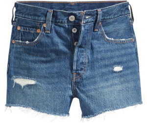 Levi's 501 High Waisted Shorts (56327) silver lakedark