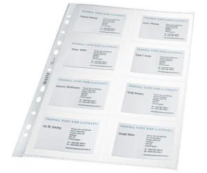 Leitz Visitenkartenhüllen Glasklar A4 1pack 10 St 4758 30