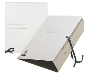 Esselte Zeichnungsmappe mit Bändern grau A2 Karton