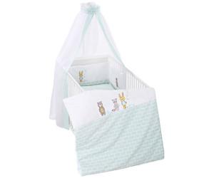Träumeland 3tlg Nestchen Bett-Set mit Himmel Bettwäsche Farbwahl NEU