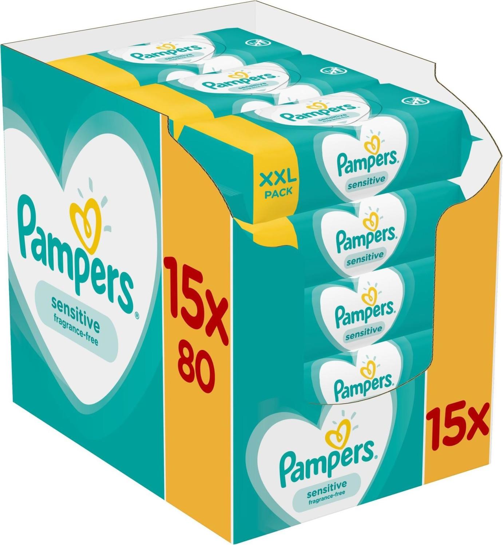 Pampers Sensitive Feuchttücher (15 x 80 Stk.)