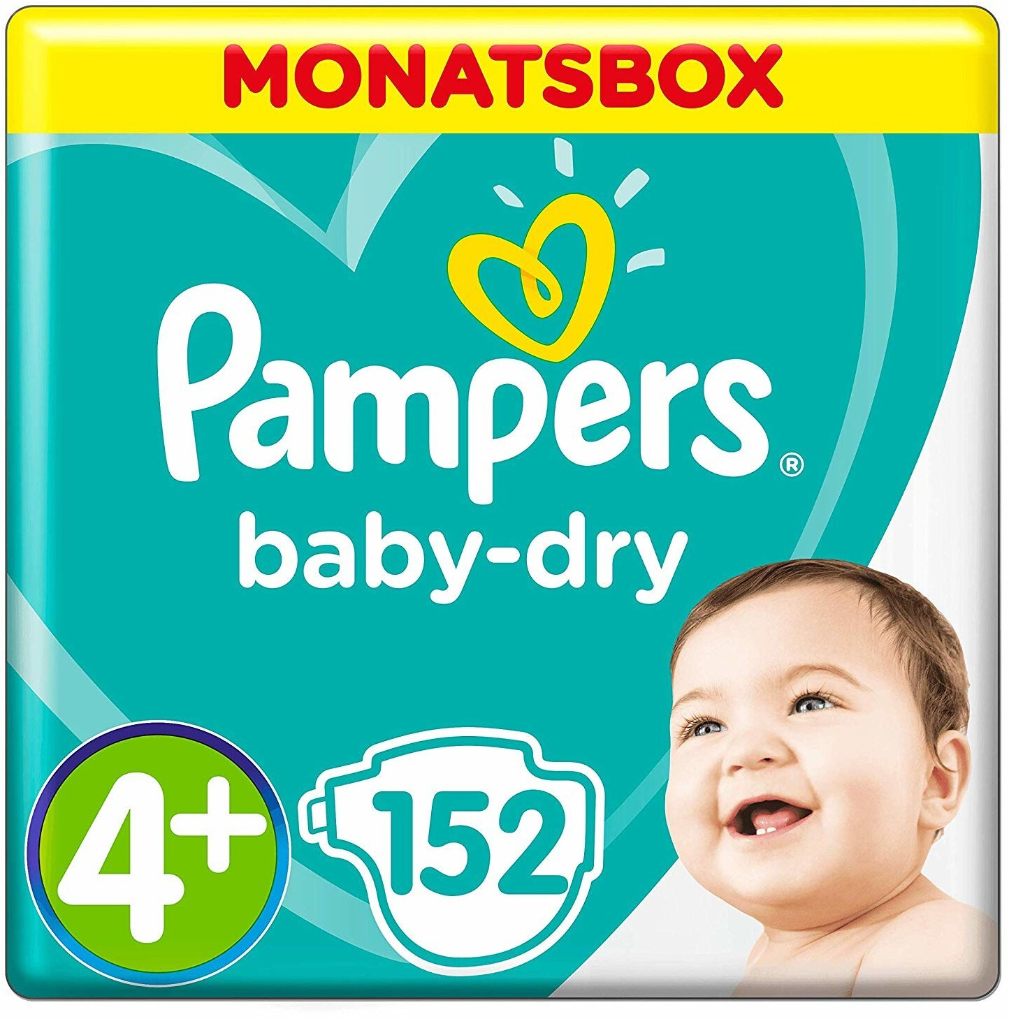 Image of Pampers Baby Dry 4+ (10-15 kg)