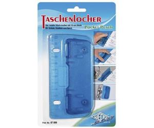 Wedo 67803 Taschenlocher Kunststoff zum Abheften f/ür 8 cm Lochung, 2f ach, mit 12 cm Skala blau