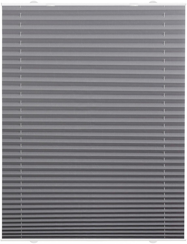 Lichtblick Haftfix-Plissee Crush-Optik (75 x 130 cm) grau