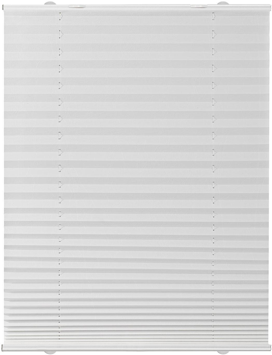 Lichtblick Haftfix-Plissee Crush-Optik (75 x 130 cm) weiß