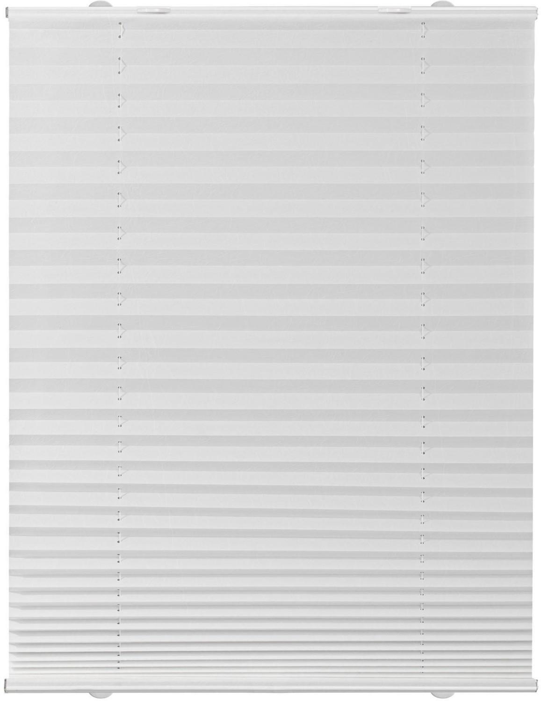 Lichtblick Haftfix-Plissee Crush-Optik (85 x 130 cm) weiß