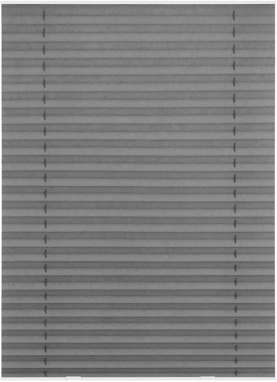 Lichtblick Dachfenster Haftfix-Plissee (36,3 x 60 cm) grau