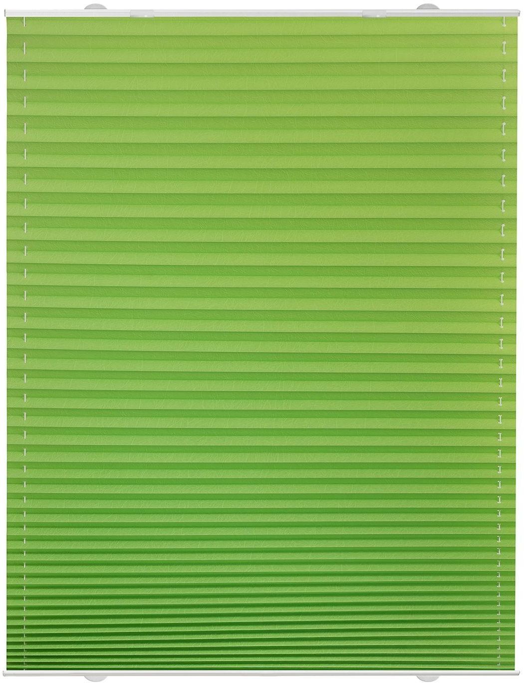 Lichtblick Haftfix-Plissee Crush-Optik (55 x 130 cm) grün
