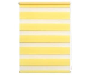 Lichtblick Klemm-Doppelrollo ohne Bohren 70x150cm gelb