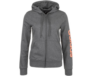 Adidas Women Essentials Linear Full Zip Hoodie dark grey