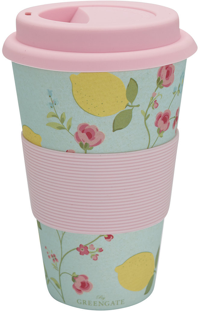 Greengate Limona Becher to go pale blue 14 cm