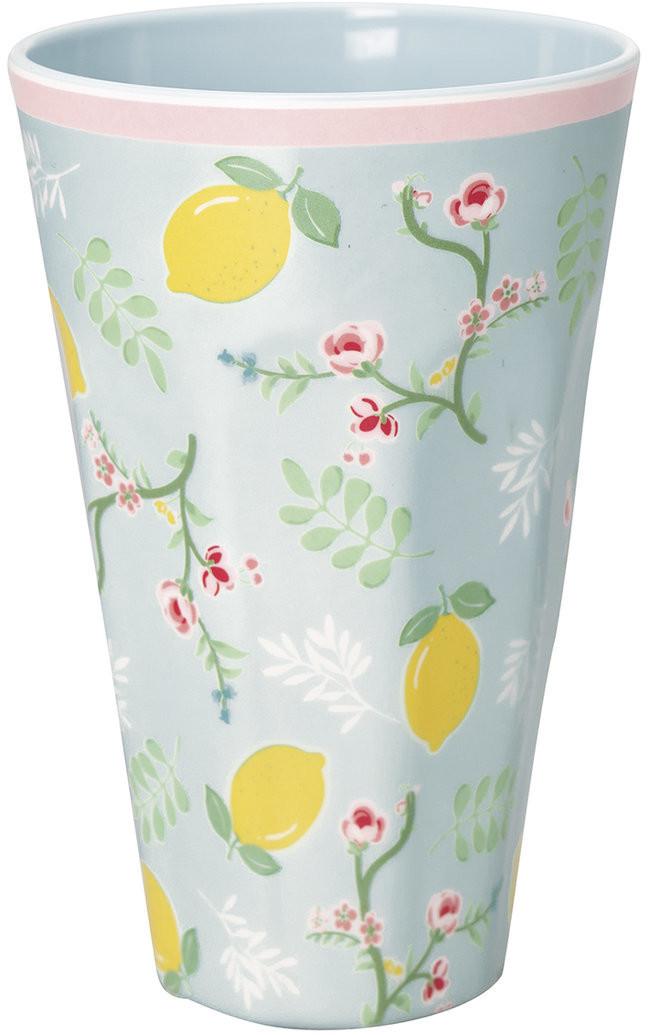 Greengate Limona hoher Becher pale blue 14 cm