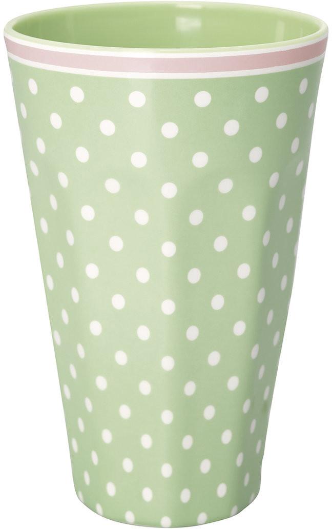 Greengate Spot hoher Becher pale green 14 cm