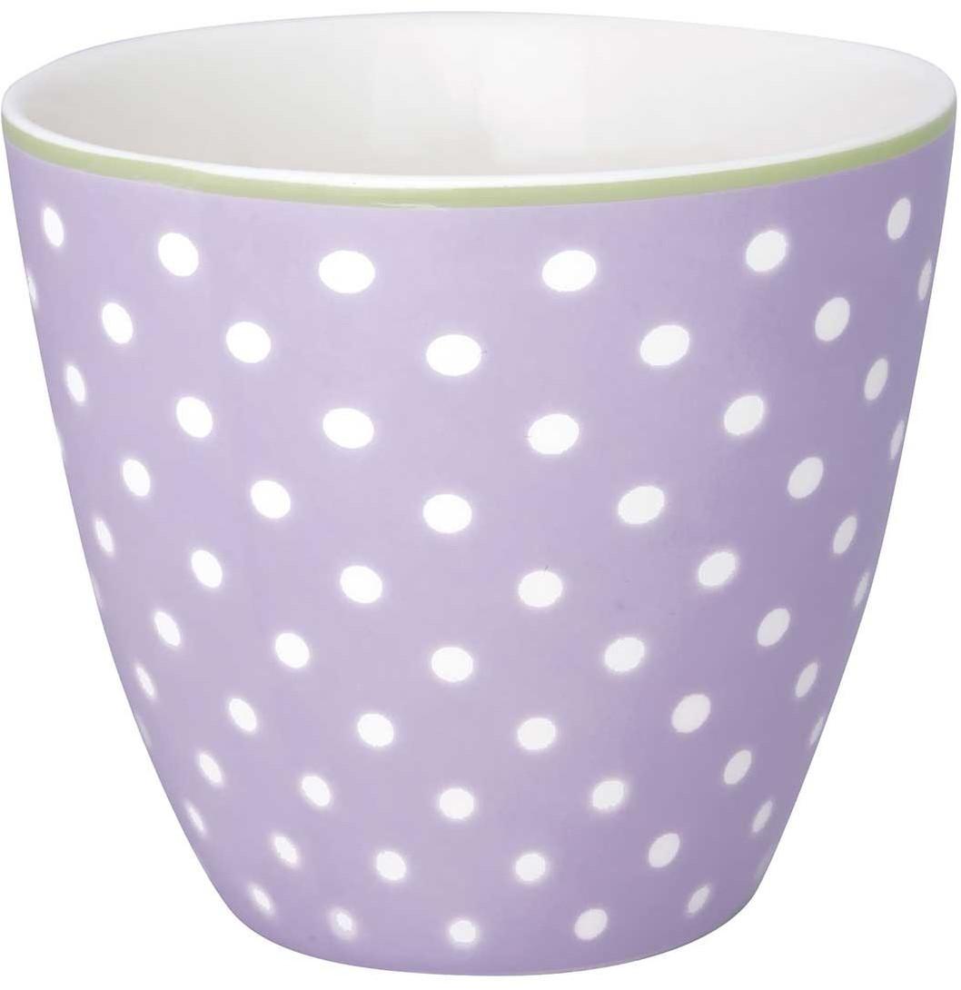 Greengate Spot Latte Cup lavendar 9 cm