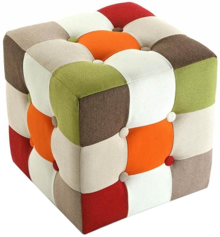 Image of Versa Bean Bag Cube Patchwork Multicolor