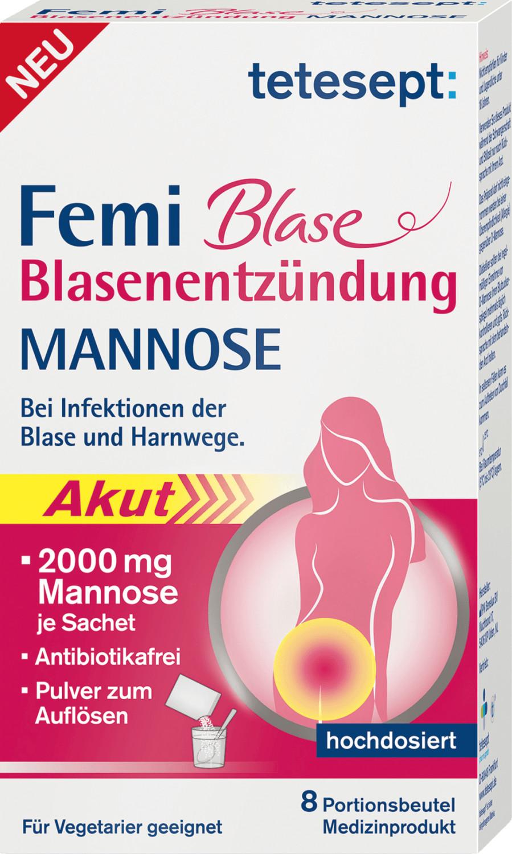 Tetesept Femi Blase Blasenentzündung Mannose Sticks Pulver (8 Stk.)