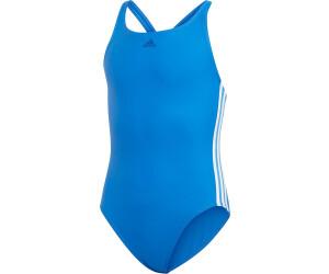 adidas Badeanzug Mädchen Infinitex 3 Streifen, Kinder Größen:128, Farbe:Blue